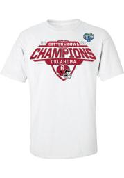 Oklahoma Sooners White 2020 Cotton Bowl Champions Locker Room Short Sleeve T Shirt