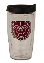 Missouri State Bears 16oz Lid Clear Tumbler