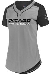 Chicago White Sox Womens Majestic League Diva Fashion Baseball Jersey - Grey