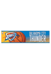 Oklahoma City Thunder 3x12 Bumper Sticker - Orange