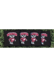 Wisconsin Badgers Corn Filled Cornhole Bags Tailgate Game