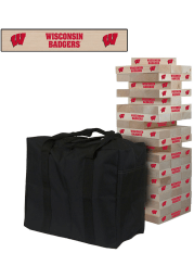 Wisconsin Badgers Giant Tumble Tower Tailgate Game