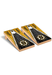 Boston Bruins Triangle Regulation Cornhole Tailgate Game