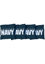 Navy Corn Filled Cornhole Bags Tailgate Game