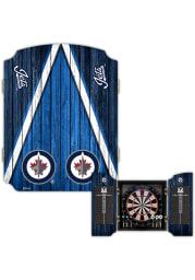 Winnipeg Jets Team Logo Dart Board Cabinet