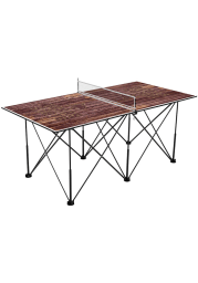Texas State Bobcats 6 Foot Weathered Pop Up Table Tennis