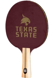 Texas State Bobcats Logo Paddle Table Tennis