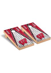 Wisconsin Badgers Vintage Version Cornhole Tailgate Game