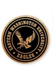 Eastern Washington Eagles Alder Wood Coaster