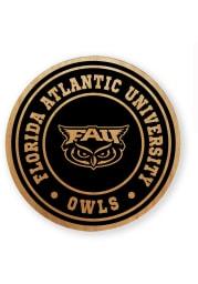 Florida Atlantic Owls Alder Wood Coaster