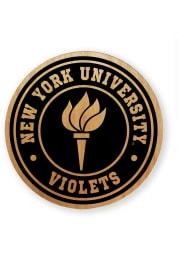 NYU Violets Alder Wood Coaster