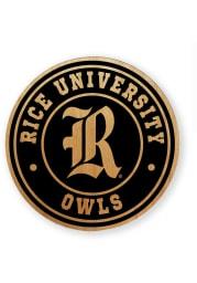 Rice Owls Alder Wood Coaster