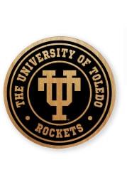 Toledo Rockets Alder Wood Coaster