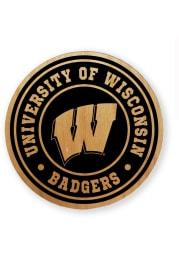 Wisconsin Badgers Alder Wood Coaster