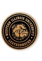 Western Illinois Leathernecks Alder Wood Coaster