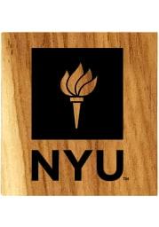 NYU Violets Barrel Stave Bottle Opener Coaster