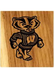 Wisconsin Badgers Barrel Stave Bottle Opener Coaster