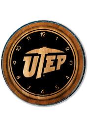 UTEP Miners Barrelhead Wall Clock