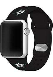 Dallas Stars Black Silicone Sport Apple Watch Band