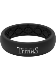 Tennessee Titans Thin Black Silicone Womens Ring