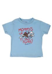 Flying Monkey Wizard of Oz Infant Short Sleeve T-Shirt Light Blue
