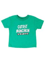 Wizard of Oz Toddler Green Cutest Munckin Short Sleeve T Shirt