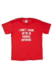 Wizard of Oz Youth Red Not in Kansas Short Sleeve T Shirt
