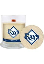 Tampa Bay Rays Vanilla 8oz Glass White Candle