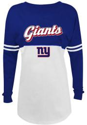 New York Giants Womens White Athletic Long Sleeve Crew T-Shirt