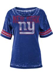 New York Giants Womens Red Boyfriend Scoop T-Shirt