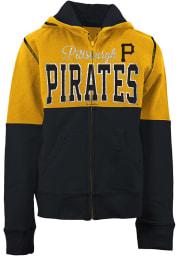 Pittsburgh Pirates Girls Gold Color Block Long Sleeve Full Zip Jacket
