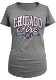 Chicago Fire Womens Grey Triblend Short Sleeve Scoop