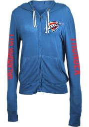 Oklahoma City Thunder Womens Blue Novelty Long Sleeve Full Zip Jacket