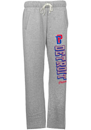 Detroit Pistons Womens French Terry Grey Sweatpants