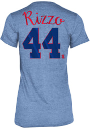 Anthony Rizzo Chicago Cubs Womens Blue Tri-Blend Player T-Shirt