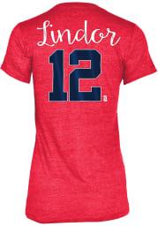 Francisco Lindor Cleveland Indians Womens Grey Tri-Blend Player T-Shirt