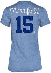 Whit Merrifield Kansas City Royals Womens Blue Tri-Blend Player T-Shirt