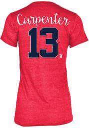 Matt Carpenter St Louis Cardinals Womens Grey Tri-Blend Player T-Shirt
