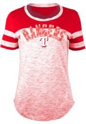 Texas Rangers Womens Red Novelty Scoop T-Shirt