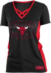 Chicago Bulls Womens Training Camp V Neck Fashion Fashion Basketball Jersey - Black