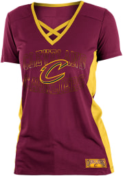 Cleveland Cavaliers Womens Training Camp V Neck Fashion Fashion Basketball Jersey - Red