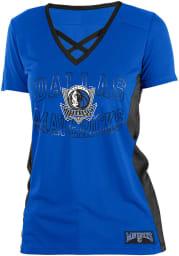 Dallas Mavericks Womens Training Camp V Neck Fashion Fashion Basketball Jersey - Blue