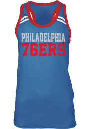 Philadelphia 76ers Womens Blue Slub Racerback Tank Top