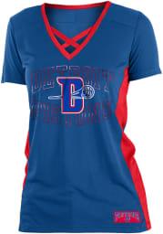 Detroit Pistons Womens Training Camp V Neck Fashion Fashion Basketball Jersey - Blue