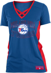 Philadelphia 76ers Womens Training Camp V Neck Fashion Fashion Basketball Jersey - Blue
