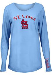 St Louis Cardinals Womens Light Blue Timeless Dana LS Tee