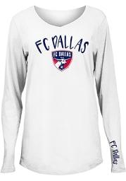 FC Dallas Womens White Timeless Dana LS Tee