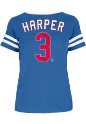 Bryce Harper Philadelphia Phillies Womens Blue Primary Logo Player T-Shirt