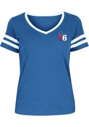 Joel Embiid Philadelphia 76ers Womens Blue Primary Logo Player T-Shirt
