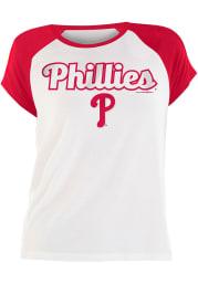 Bryce Harper Philadelphia Phillies Womens White Rayon Raglan Crew Player T-Shirt